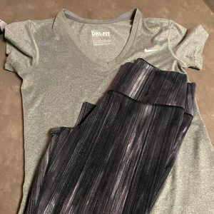 Nike Dry Fit Combo - Shirt with Tights